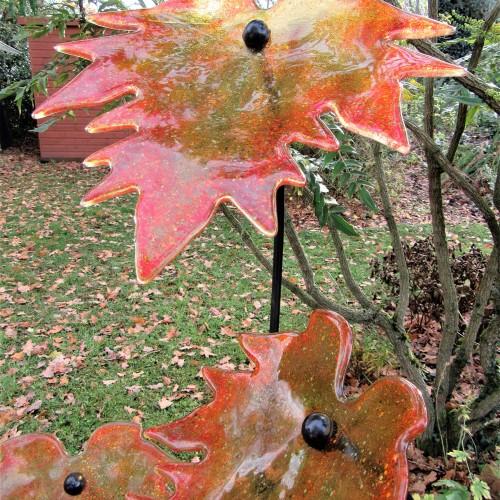 Amber Autumn Leaves (b)