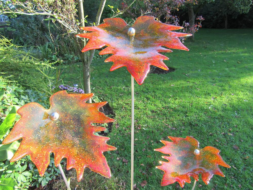 amber autumn leaves 1