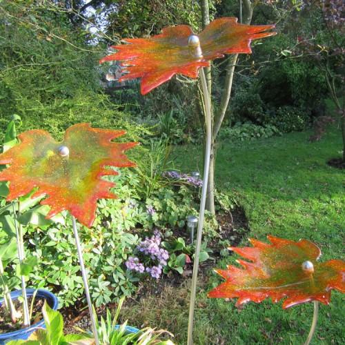 amber autumn leaves 2
