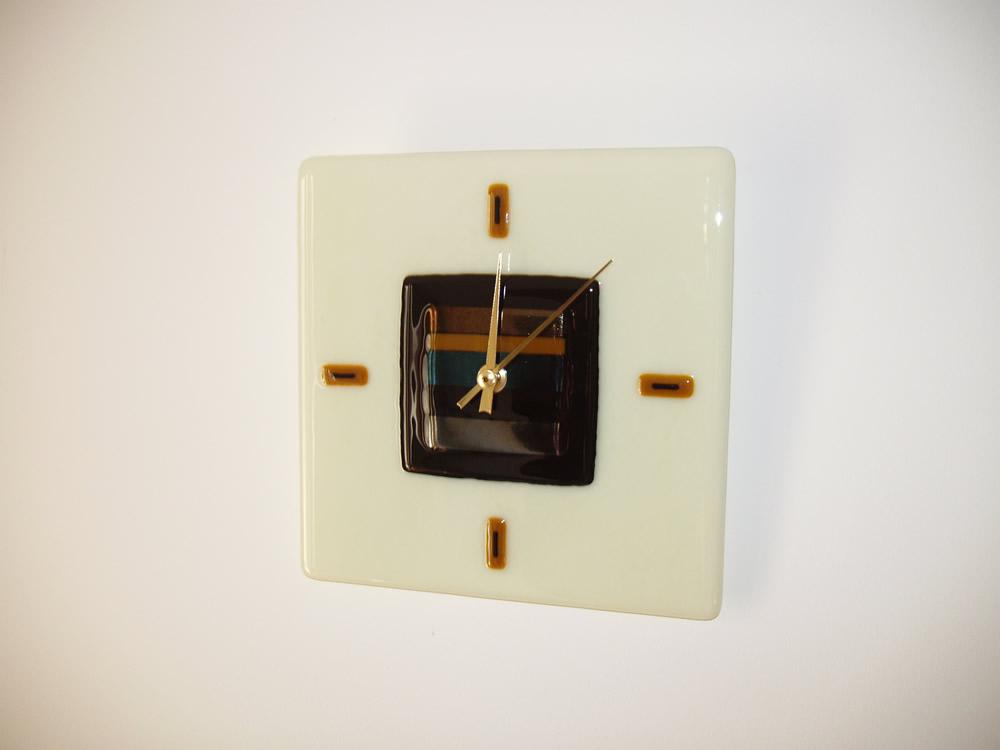 vanilla glass wall clock